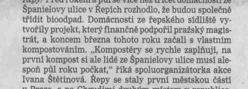Článek v Pražském deníku 13.6.2007